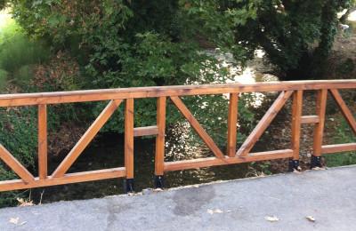Έπιπλα για κήπο – Ειδικές Κατασκευές από ξύλο – Φράχτης – Κωδ:fen10