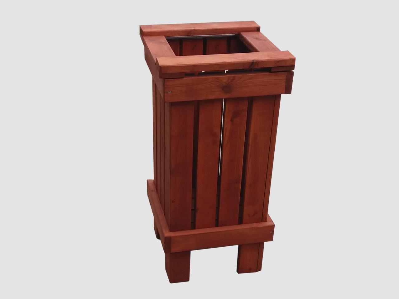 Έπιπλα Κήπου – Ειδικές Κατασκευές από ξύλο – Καλαθάκι Σκουπιδιών – Κωδ:027
