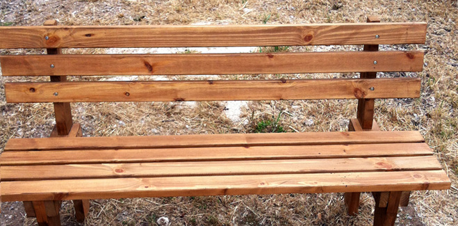 Έπιπλα Κήπου – Παγκάκι απο ξύλο