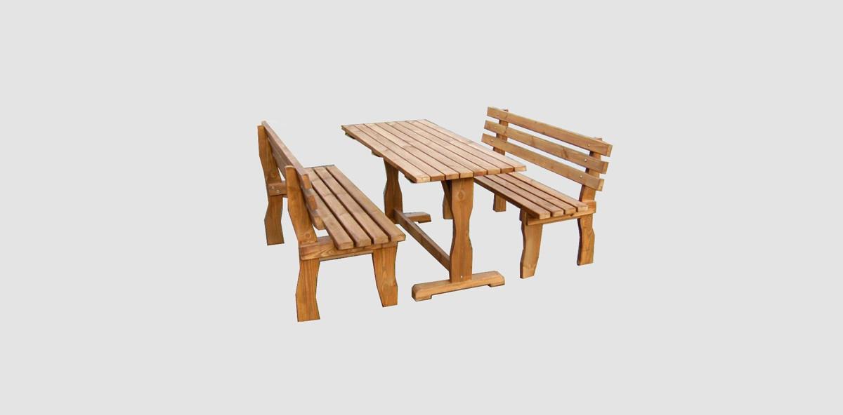 Χειροποίητα Έπιπλα – Έπιπλα Κήπου – Σετ τραπέζι με παγκάκια σε προσφορά