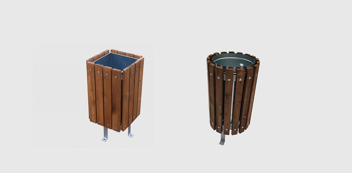Ξύλινοι Κάδοι – Καλαθάκια απορριμάτων