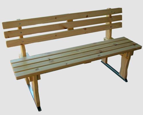 Ξύλινο παγκάκι με μεταλλική βάση – Κωδ: 15-8