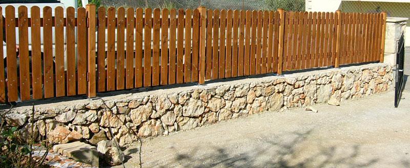 Ξύλινος φράχτης κήπου – Κωδ: 15-3