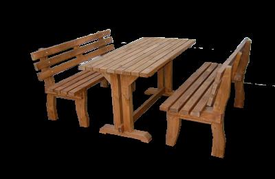 Σετ τραπέζι με παγκάκια από ξυλεία πεύκης – Κωδ.: 15-20