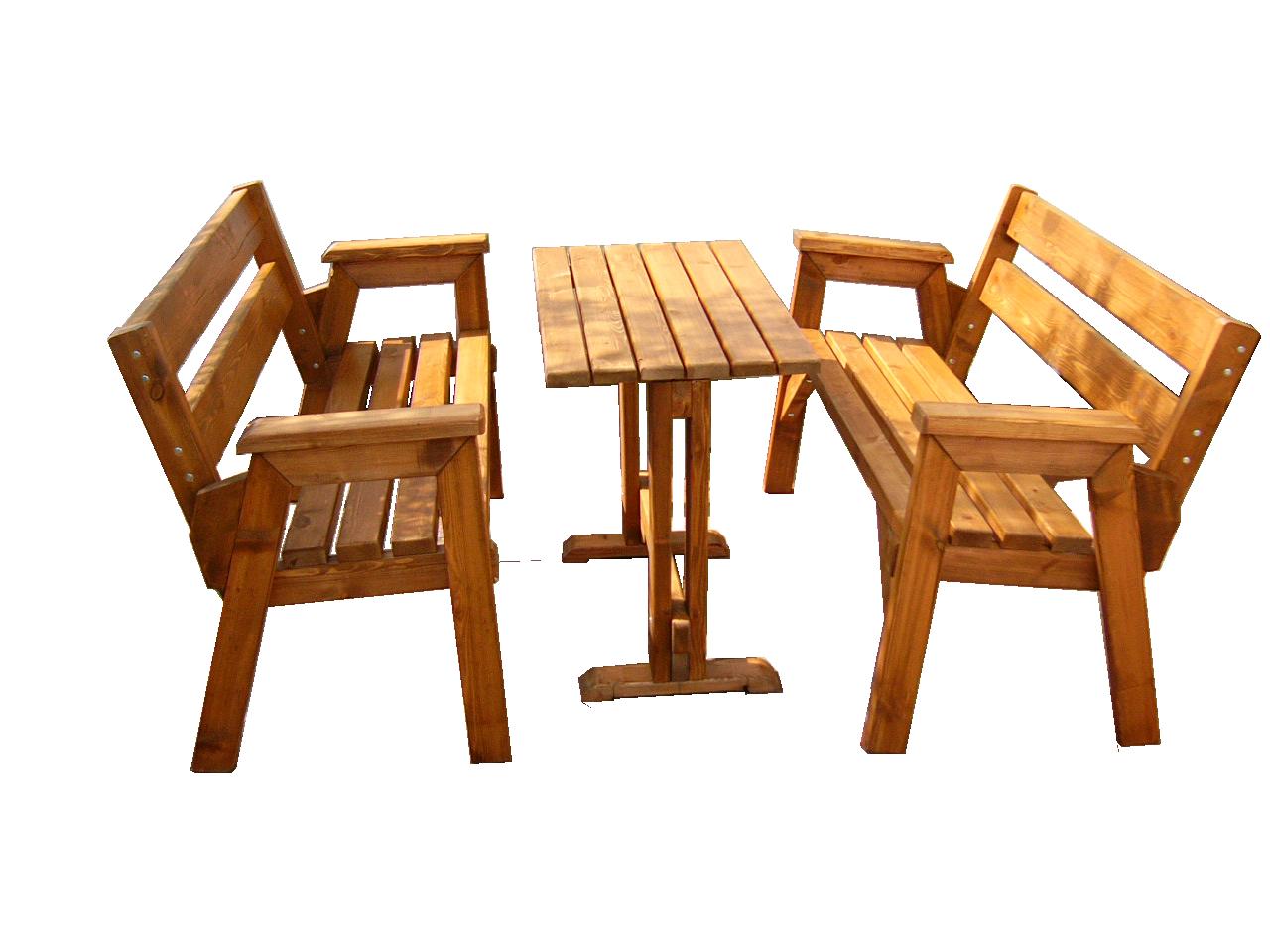 Ξύλινο τραπέζι με παγκάκια – Κωδ.: 15-21
