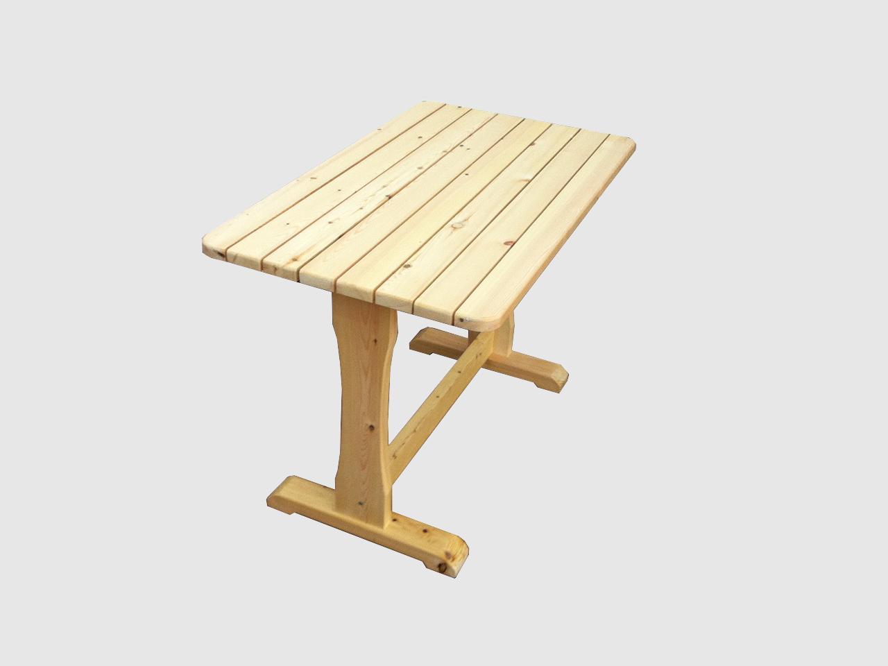 Ξύλινο χειροποίητο τραπέζι σε φυσικό χρώμα – Κωδ.: 15-23