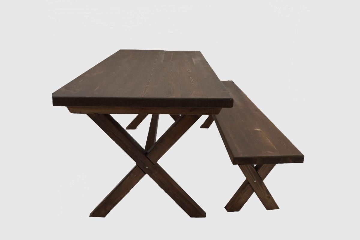 Τραπέζι μοναστηριακού τύπου με χιαστί πόδια