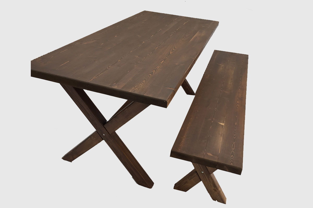 Τραπέζι με χιαστί πόδια – Κωδ: 16-02