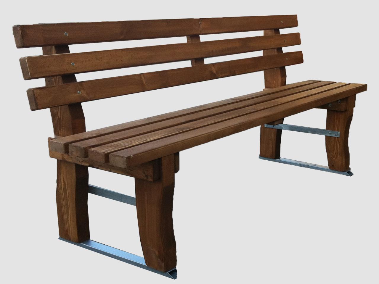 ξυλινο παγκακι με μεταλλική βαση