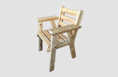Ξύλινη καρέκλα με μπράτσο – Κωδ: 16-03