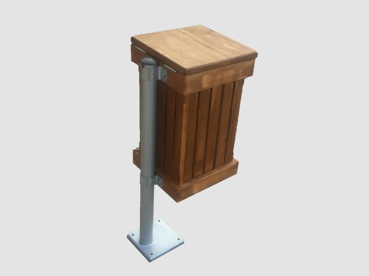 ξυλινος καδος με καπακι