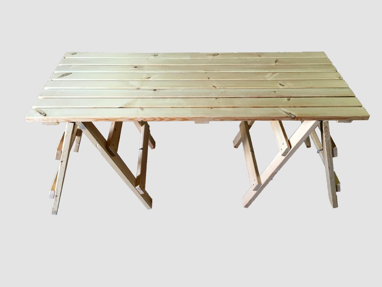 ξυλινο τραπεζι με αποσπομενη βαση