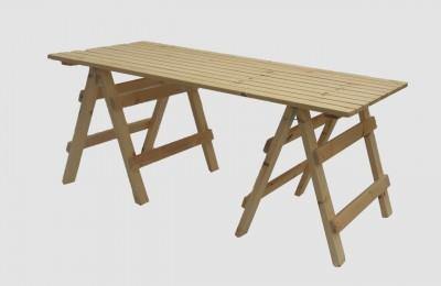 Ξύλινο τραπέζι με αποσπώμενη βάση – Κωδ.: 16-07