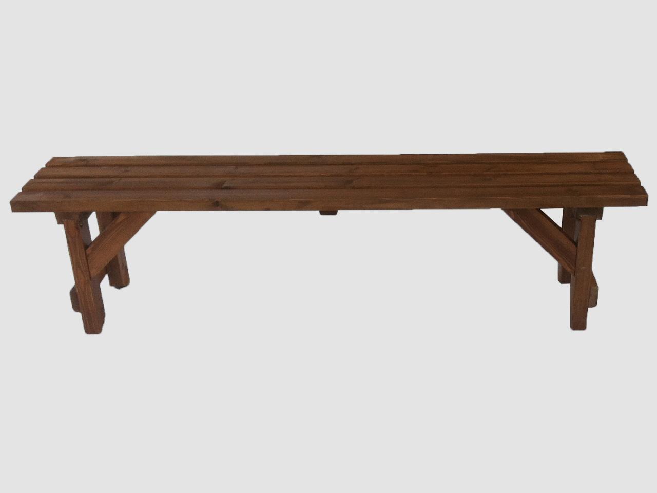 Ξύλινο παγκάκι χαμηλό – Κωδ: 16-09
