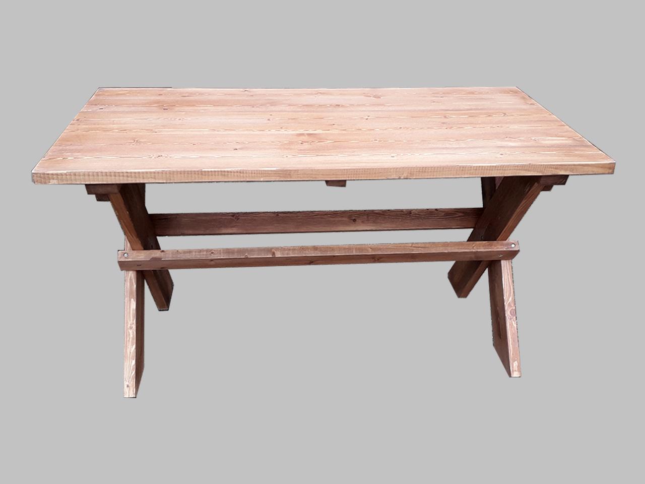Τραπέζι με χιαστί πόδια ξύλινο - Μοναστηριακό